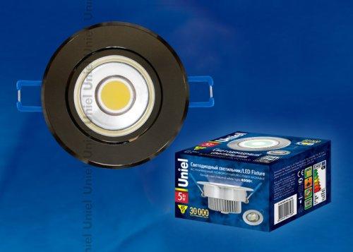 ULM-R31-5W-NW IP20 BLACK CHROME картон Светильник светодиодный встраиваемый поворотный. 110-240В. Материал корпуса алюминий. цвет черный хром. Белый свет.