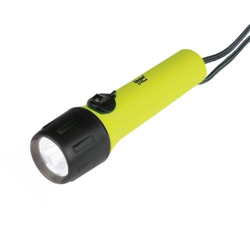 P-WP011-BB Yellow Фонарь Uniel серии Премиум Diving – Nautilus. пластиковый корпус. XP-C Cree LED. упаковка цветной короб. 4 х ААA в-к. цвет желтый