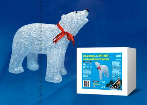 ULD-M6048-120-STA WHITE IP20 WHITE BEAR 1 Фигура светодиодная Белый медведь 1. 120 светодиодов. 60x21x48 см. цвет-свечения- белый. IP20