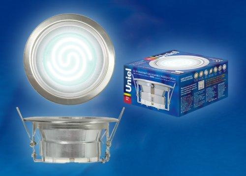 GX53-Н-2R Серебро. Светильник встраиваемый с рефлектором. Картонная упаковка.
