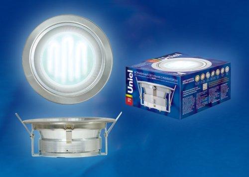 GX70-Н-6R Серебро. Светильник встраиваемый с рефлектором. Картонная упаковка.