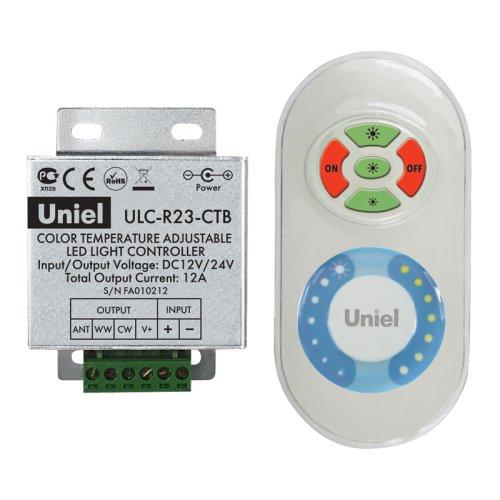 ULC-R23-CTB White Контроллер для управления мультибелыми светодиодными источниками света с пультом ДУ. Цвет пульта белый. Упаковка блистер.