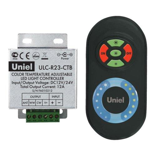 ULC-R23-CTB Black Контроллер для управления мультибелыми светодиодными источниками света с пультом ДУ. Цвет пульта черный. Упаковка блистер.