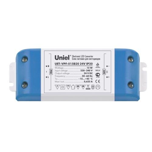 UET-VPF-015B20 Блок питания для светодиодов с защитой от короткого замыкания и перегрузок. 15 Вт. 24В. IP20