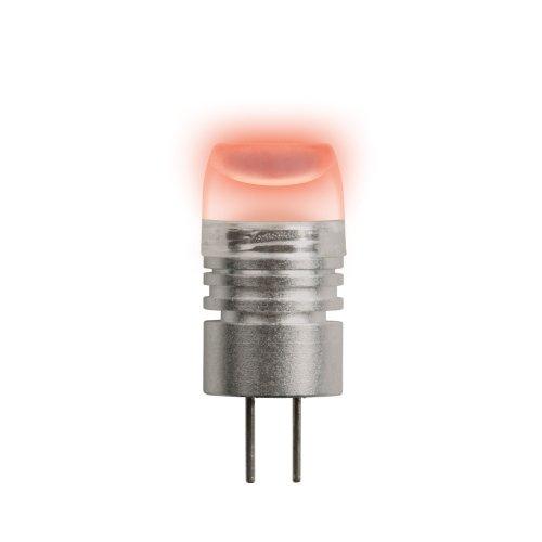 LED-JC-12-0.8W-RED-G4 Лампа светодиодная. Упаковка блистер