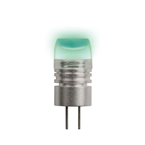 LED-JC-12-0.8W-GREEN-G4 Лампа светодиодная. Упаковка блистер