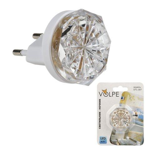 DTL-307-Кроха-White-3LED-0.5W Светильник-ночник. Блистерная упаковка.