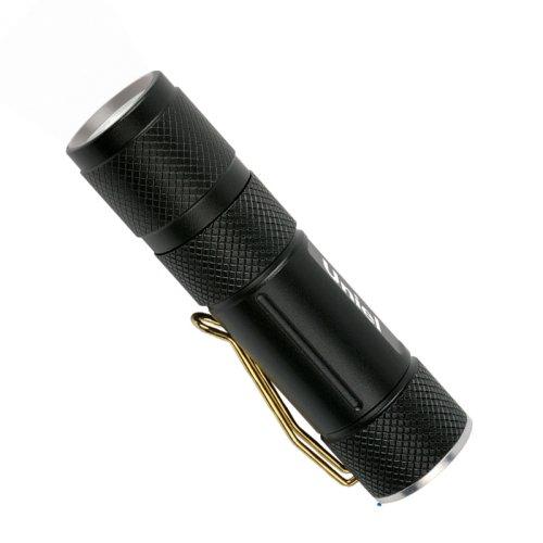 S-LD020-C Black Фонарь Uniel серии Стандарт Pocket telescope light 1 max . алюминиевый корпус. 1 Watt Led. упаковка кламшелл. CR123 н-к. цвет черный