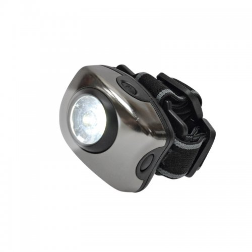 S-HL011-C Gun Metal Фонарь Uniel серии Стандарт Bright eyes comfort налобный фонарь. алюминиевый корпус. 1 LED. упаковка кламшелл. 3хААА н-к
