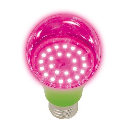 LED-A60-8W-SPSB-E27-CL PLP30GR Лампа светодиодная для растений. Форма A. прозрачная. Спектр для рассады и цветения. Картон. ТМ Uniel