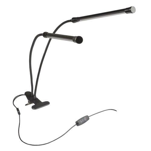 ULT-P33-15W-SPSB-TM IP40 BLACK Светильник для растений светодиодный с таймером. на прищепке. Спектр для рассады и цветения. TM Uniel