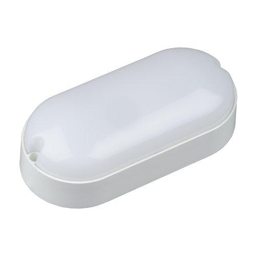 ULW-Q225 8W-6500К IP65 WHITE Светильник светодиодный влагозащищенный. Овал. Дневной свет 6500K. 165х80 мм. Корпус белый. ТМ Volpe.