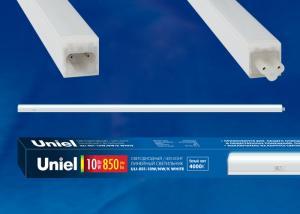 ULI-E01-7W-NW-K WHITE Светильник линейный светодиодный аналог T5. c выключателем. Белый свет 4000K. 600Лм. Корпус белый. ТМ UNIEL.