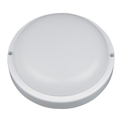 ULW-Q211 12W-NW SENSOR IP65 WHITE Светильник светодиодный влагозащищенный. с микроволновым датчиком движения. Круг. Белый свет 4500K. 960Лм. Диаметр 16 см. Корпус белый. ТМ Volpe.