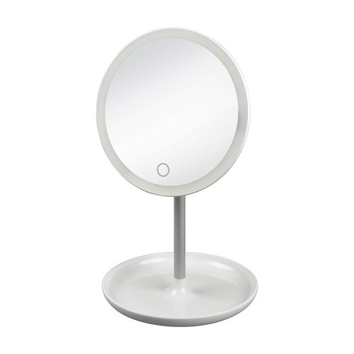 TLD-590 White-LED-80Lm-6000K-Dimmer Настольный светильник зеркало. 4W. Встроенный аккумулятор 3.7V-600mAh. Сенсорный выключатель. Диммер. Белый. ТМ Uniel