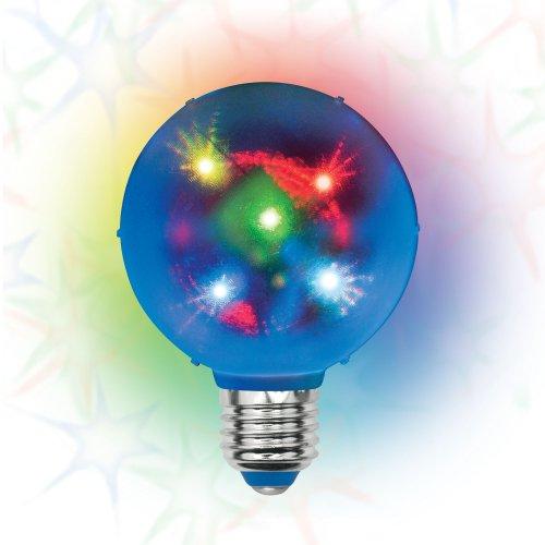 ULI-Q308 1.5W-RGB-E27 ДИСКО ШАР 3D Светодиодный светильник. Свечение 3D звёзды. 220В. Диаметр 8см. ТМ Volpe.