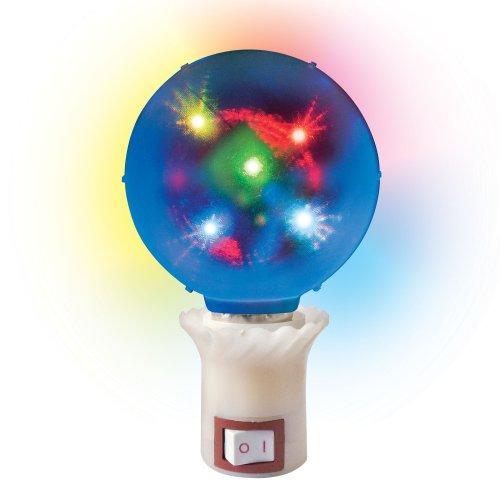 ULI-Q309 1.5W-RGB ДИСКО ШАР 3D Светодиодный светильник. Свечение 3D звёзды. Вилка 220В. Диаметр 8см. ТМ Volpe.