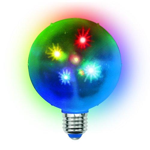 ULI-Q310 1.5W-RGB-Е27 ДИСКО ШАР 3D Светодиодный светильник. Свечение 3D звёзды. 220В. Диаметр 10см. ТМ Volpe.