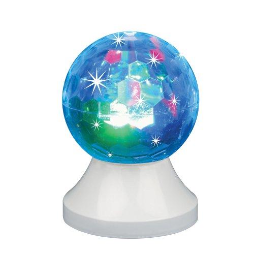 ULI-Q311 3.5W-RGB WHITE Светодиодный светильник-проектор. Кабель с вилкой. 220В. Диаметр 10см. Белый. ТМ Volpe.