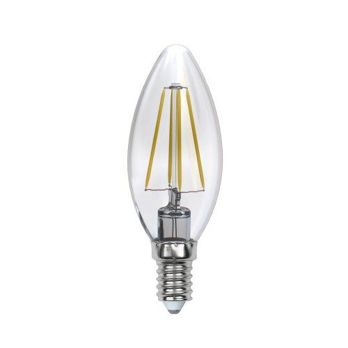 LED-C35-5W-WW-E14-CL-DIM GLA01TR Лампа светодиодная диммируемая. Форма свеча. прозрачная. Серия Air. Теплый белый свет 3000K. Картон. ТМ Uniel