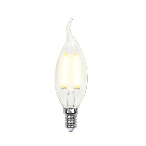 LED-CW35-5W-WW-E14-CL-DIM GLA01TR Лампа светодиодная диммируемая. Форма свеча на ветру. прозрачная. Серия Air. Теплый белый свет 3000K. Картон. ТМ Uniel