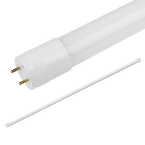 LED-T8-18W-NW-G13-FR-FIX-O Лампа светодиодная. матовый рассеиватель. Серия Optima. Белый свет 4000К. Цоколь G13 неповоротный. Рукав. ТМ Volpe.