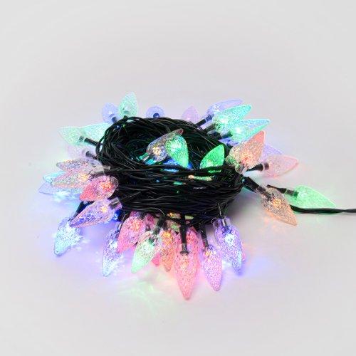 ULD-S0700-050-DGA MULTI IP20 STRAWBERRY Гирлянда светодиодная с контроллером Клубничка. 7м. 50 светодиодов. Разноцветный свет. Провод зеленый. ТМ Uniel