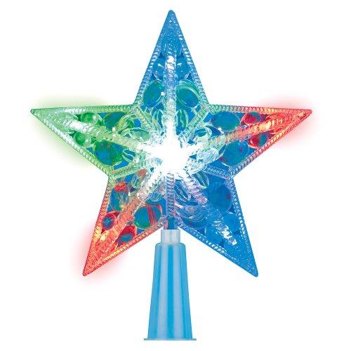 ULD-H1516-010-DTA MULTI STAR Украшение светодиодное для ёлки Звезда. 15см. 10 светодиодов. Разноцветный свет. Прозрачный провод. TM Uniel.