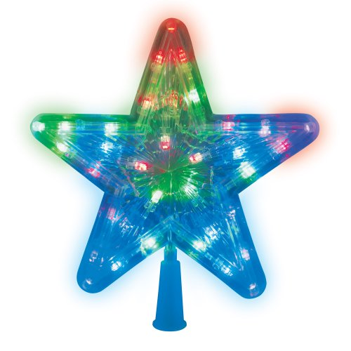 ULD-H2222-030-DTA MULTI STAR-1 Украшение светодиодное для ёлки Звезда-1. 22 см. 30 светодиодов. Разноцветный свет. Прозрачный провод. TM Uniel.