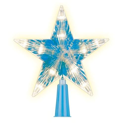 ULD-H1515-010-STB-2AA WARM WHITE STAR-2 Украшение светодиодное для ёлки Звезда-2. 15см. на батарейках не в-к. 10 светодиодов. Теплый белый свет. Прозрачный провод. TM Uniel.