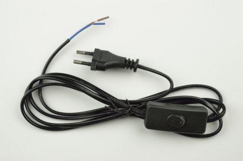 UCX-C10-02A-170 BLACK Сетевой шнур с вилкой и выключателем. 2А. 500Вт. 1.7м. Черный. ТМ Uniel