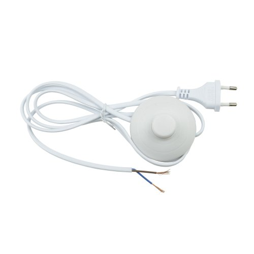 UCX-C20-02A-170 WHITE Сетевой шнур с вилкой и выключателем напольный. 2А. 500Вт. 1.7м. Белый. ТМ Uniel