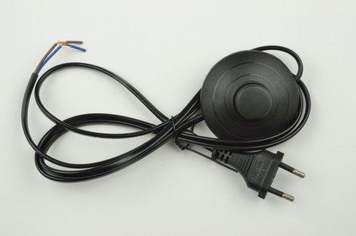 UCX-C20-02A-170 BLACK Сетевой шнур с вилкой и выключателем напольный. 2А. 500Вт. 1.7м. Черный. ТМ Uniel