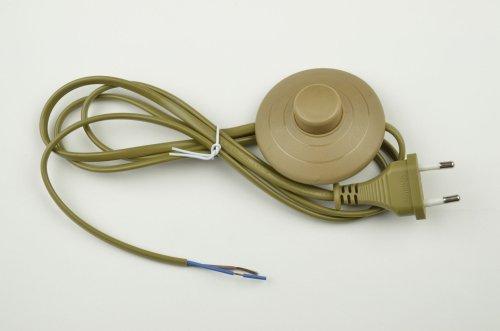 UCX-C20-02A-170 BROWN Сетевой шнур с вилкой и выключателем напольный. 2А. 500Вт. 1.7м. Коричневый. ТМ Uniel