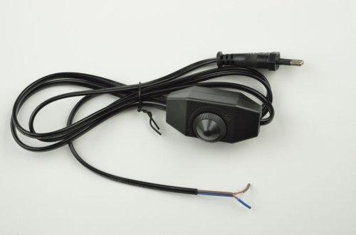 UCX-C30-02A-170 BLACK Сетевой шнур с вилкой и выключателем с диммером. 2А. 500Вт. 1.7м. Черный. ТМ Uniel
