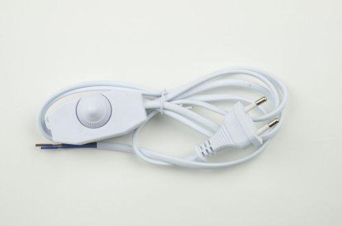 UCX-C30-02A-170 WHITE Сетевой шнур с вилкой и выключателем с диммером. 2А. 500Вт. 1.7м. Белый. ТМ Uniel
