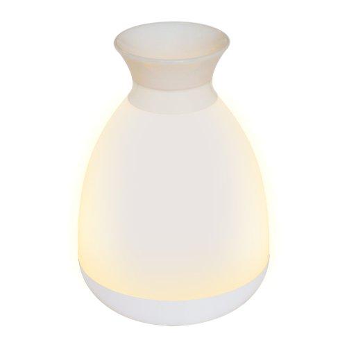 ULD-R200 LED-100Lm-3000K-RGB WHITE Настольный светильник ваза. 3W. Встроенный аккумулятор 1800mAh. Сенсорный выключатель. Белый. ТМ Uniel