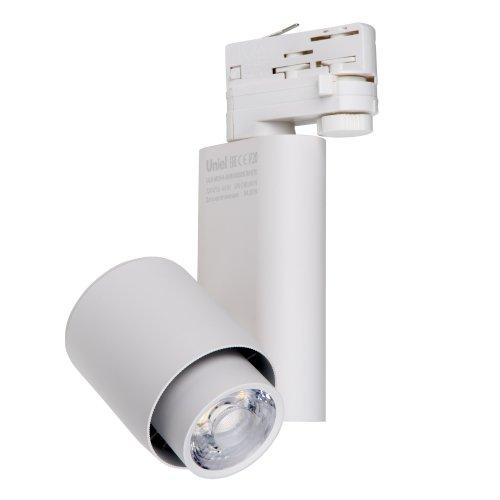 ULB-M09H-50W-4000К WHITE Светильник светодиодный трековый. 50 Вт. 5000 Лм. Белый свет 4000К. Корпус белый. 6x18см. ТМ Uniel.