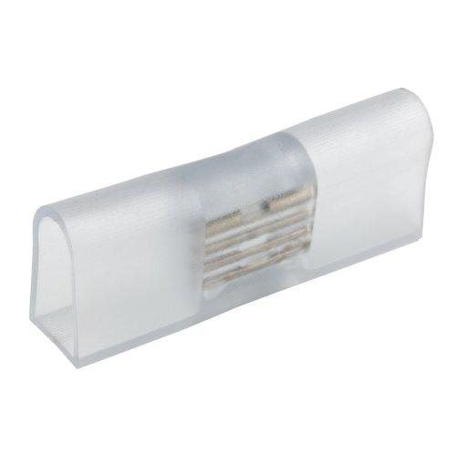 UTC-K-14-N22 CLEAR 025 POLYBAG Соединитель контактный прямой для светодиодных лент ULS-N22 RGB NEON 220В. 8x16мм. 4 контакта.Цвет прозрачный. 25 штук в пакете. TM Uniel.