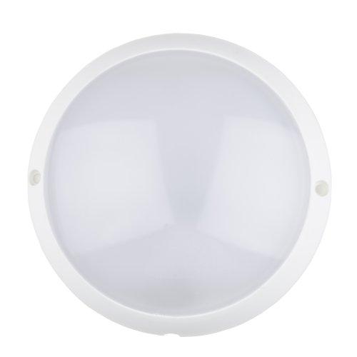 ULW-K40A 12W-6500K IP65 WHITE Светильник светодиодный влагозащищенный. Круг. Дневной свет 6500К. Диаметр 155 мм. Корпус белый. ТМ Uniel.
