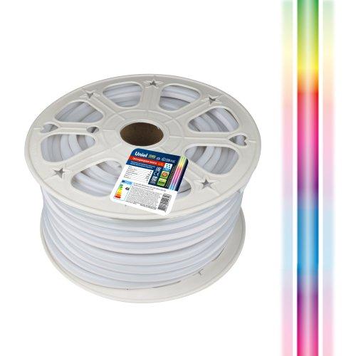 ULS-N22-5050-80LED-m-8mm-IP67-220V-10W-m-50M-RGB Светодиодная гибкая герметичная лента. NEON. Бобина 50 м. RGB. TM Uniel.