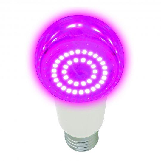 LED-A60-14W-SPSB-E27-CL PLP30WH Лампа светодиодная для растений. Форма A. прозрачная. Спектр для рассады и цветения. Картон. ТМ Uniel.