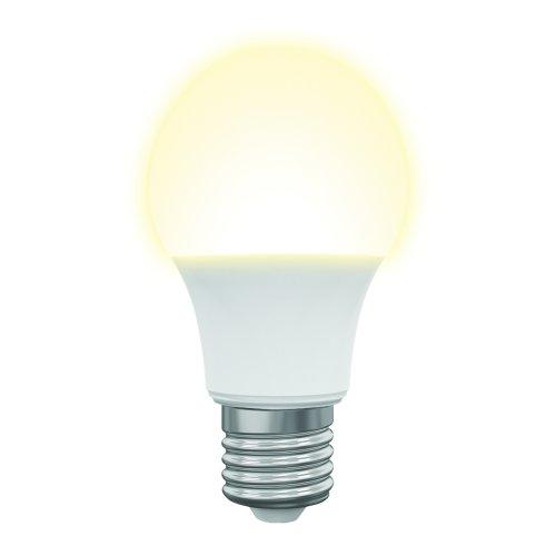 LED-A60-7W-3000K-E27-FR-NR Лампа светодиодная. Форма A. матовая. Серия Norma. Теплый белый свет 3000K. Картон. ТМ Volpe