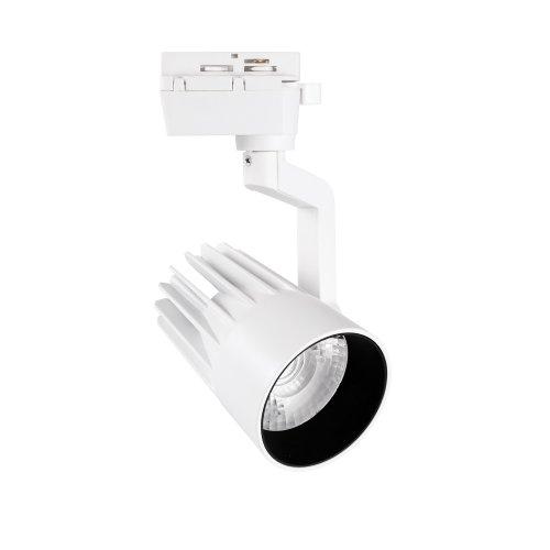 ULB-Q274 30W-4000К WHITE Светильник-прожектор светодиодный трековый. 3000 Лм. Белый свет 4000К. Корпус белый. ТМ Volpe.