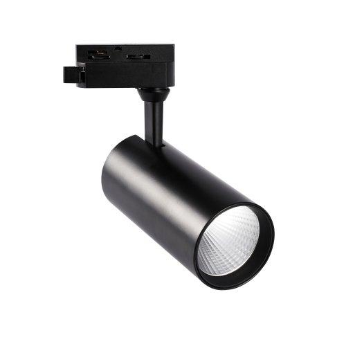 ULB-Q276 25W-4000К BLACK Светильник-прожектор светодиодный трековый. 2200 Лм. Белый свет 4000К. Корпус черный. ТМ Volpe.
