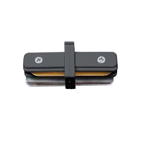 UBX-Q122 G11 BLACK 1 POLYBAG Соединитель для 2-х шинопроводов типа G. прямой внутренний. Однофазный. Черный. ТМ Volpe.