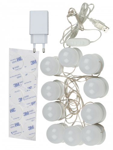 ULM-F50-8W-SW-10-DIM IP20 WHITE Светильник светодиодный. с диммером. Серия Backstage. Теплый свет3000К-Белый свет4000К-Дневной свет6500К. Белый. TM Uniel.