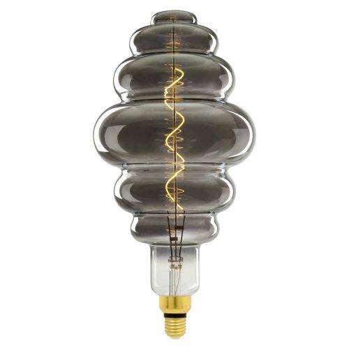 LED-SF40-5W-SOHO-E27-CW CHROME-SMOKE GLS77CR Лампа светодиодная SOHO. Хромированная-дымчатая колба. Спиральный филамент. Картон. ТМ Uniel