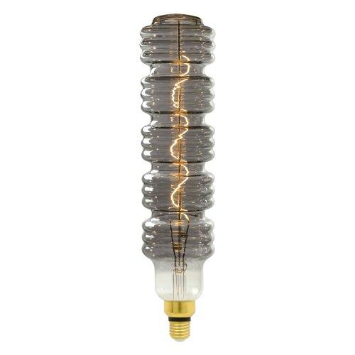 LED-SF41-5W-SOHO-E27-CW CHROME-SMOKE GLS77CR Лампа светодиодная SOHO. Хромированная-дымчатая колба. Спиральный филамент. Картон. ТМ Uniel