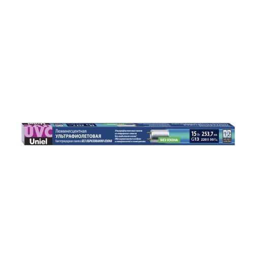 EFL-T8-15-UVCB-G13-CL Лампа ультрафиолетовая бактерицидная. Спектр UVC 253.7нм. Картон. ТМ Uniel